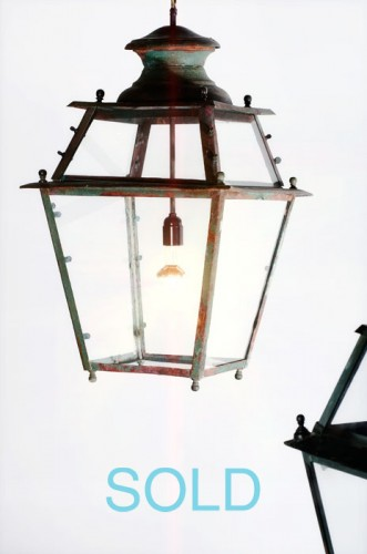 COPPER AND BRASS LANTERN