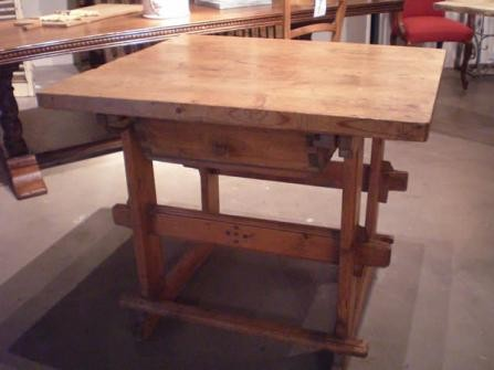EUROPEAN PINE WORK TABLE WITH SINGLE DRAWER