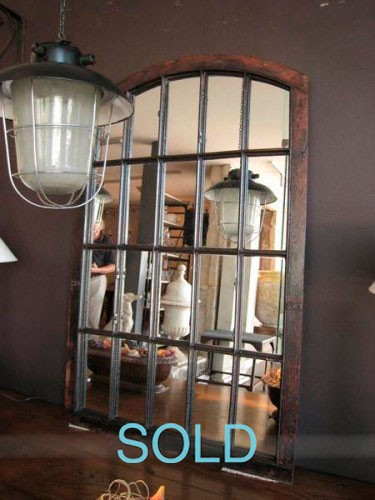 INDUSTRIAL WINDOWS CONVERTED TO MIRROR