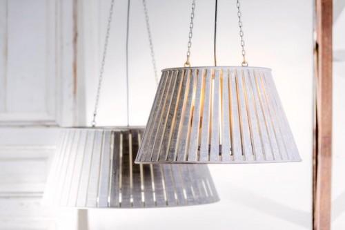 SMALL WHITEWASH PENDANT LAMP