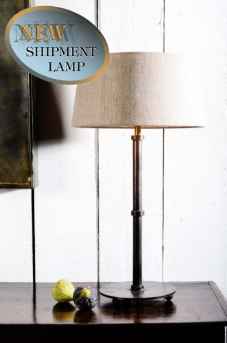 'ADELAIDE' RUST FINISH LAMP