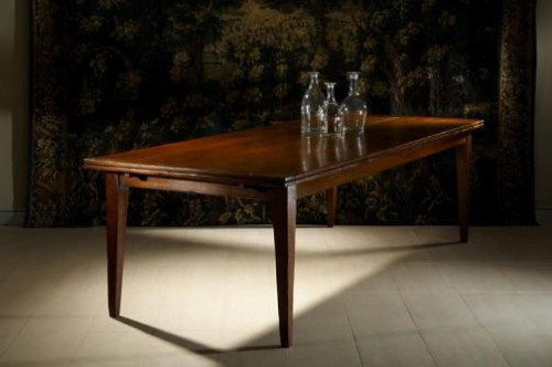 "FRENCH FARMHOUSE ""PICARDI""  DOUBLE EXTENSION TABLE MADE IN FRENCH OAK"