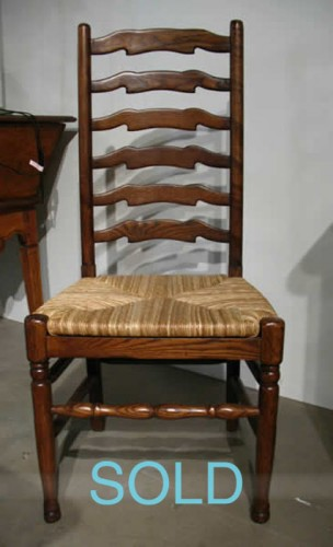 OAK SIX RUNG LADDERBACK CHAIR