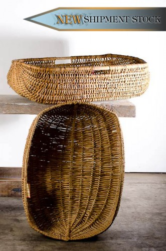 FRENCH WICKER BRETAGNE BASKET c. 1910