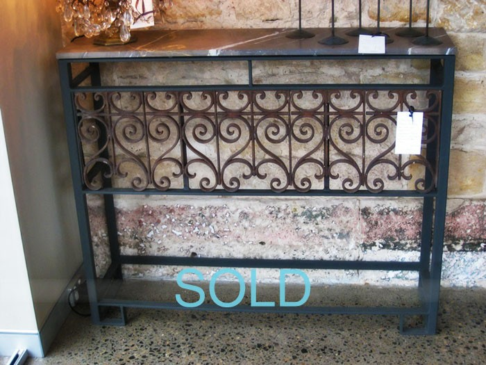 French juliette balcony console conversion for Balcony console