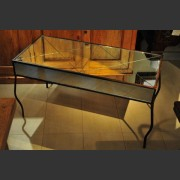 AGED GLASS DIAMOND MIRROR COFFFEE TABLE