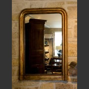 GILT MIRROR WITH  MERCURY GLASS