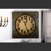 'ANTIQUITIE DE PARIS' METAL PAINTED WALL CLOCK