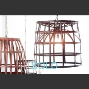 LARGE METAL BON BON BASKET LAMP