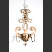 HAND FORGED EUROPEAN SCROLLED WALL SCONCE
