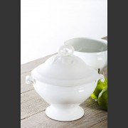 FRENCH WHITE CHINA SOUPIER
