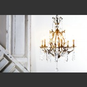 GILT SIX ARM ITALIANATE CHANDELIER