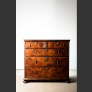 CHARLES II ENGLISH FIVE DRAWER CHEST c. 1660