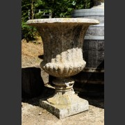 RECONSTITUTED STONE PLEATED URN