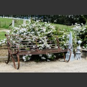 19th C. METAL GARDEN BENCH