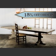 'BASQUE' REFECTORY STYLE DINING TABLE
