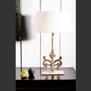'KRETA' PAINTED METAL SCROLL LAMP