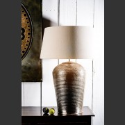 'LONDON' CHROMED RIBBED METAL LAMP