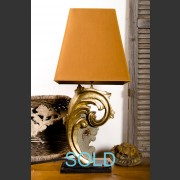 'SEVILLE BOIS' GILDED SCROLL BASE LAMP