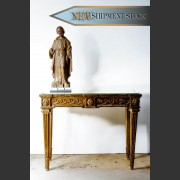 FRENCH GILT CONSOLE WITH MERCURY MIRROR TOP