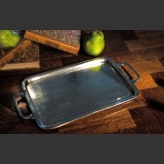 HANDCRAFTED ITALIAN MEDIUM PEWTER TRAY