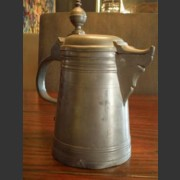 FRENCH PEWTER WINE JUG