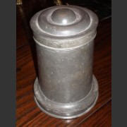 FRENCH PEWTER ICE MOULD