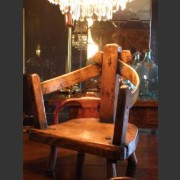 18th C. OAK AND ELM WELSH CHILDS CHAIR