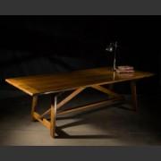 GERONDE FRENCH OAK FARMHOUSE TRESTLE TABLE