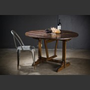 FRENCH OAK FARMHOUSE TILT-TOP TABLE