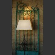 PAIR OF TURQUOISE FORGED METAL GATES