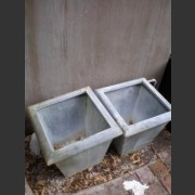 EUROPEAN ZINC SQUARE TAPERED PLANTER