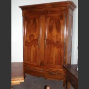 18th C. FRENCH LOUIS XV WALNUT ARMOIRE