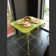 FRENCH PROVINCIAL PAINTED CAF? TABLE