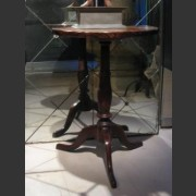 TRIPOD TABLE WITH BURR ELM AND ELM TOP