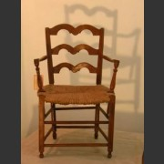 SINGLE FRENCH PROVINCIAL OAK OPEN SIDE CHAIR c.1790