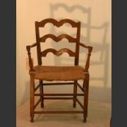 SINGLE FRENCH PROVINCIAL OAK OPEN SIDE CHAIR c.1790