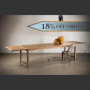 'PROVENCE' FRENCH LIMED OAK DOUBLE EXTENSION FARMHOUSE TABLE