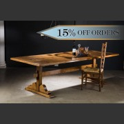 'TOULOUSE' FRENCH OAK FARMHOUSE REFECTORY TABLE 