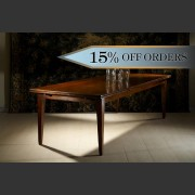 FRENCH FARMHOUSE &quot;PICARDI&quot;  DOUBLE EXTENSION TABLE MADE IN FRENCH OAK