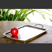 HANDCRAFTED ITALIAN LARGE PEWTER TRAY