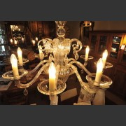 VENETIAN GLASS 8 ARM CHANDELIER