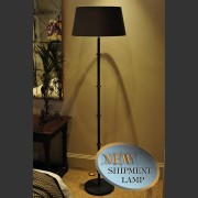 'BUTTON' FRENCH METAL PAINTED STANDARD LAMP