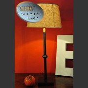 'KNOT' LAMP WITH FRENCH LINEN SHADE