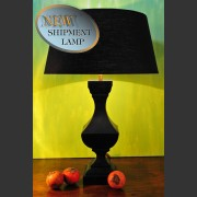 'DIJK' FRENCH BLACK PAINTED TIMBER LAMP