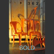 TOLIX CHAIR IN ORANGE