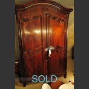 19th C. WALNUT ARMOIRE