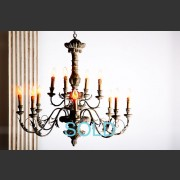 'FLORENCE' FRENCH TWELVE ARM CHANDELIER