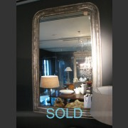 LARGE NAPOLEON III SILVER GILT MIRROR