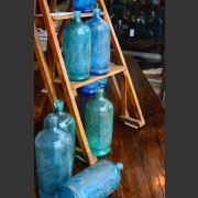 FRENCH BLUE AND AQUA BOTTLES